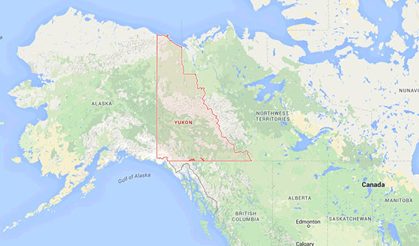 Map of the Yukon showing where Ingrid had bariatric surgery.